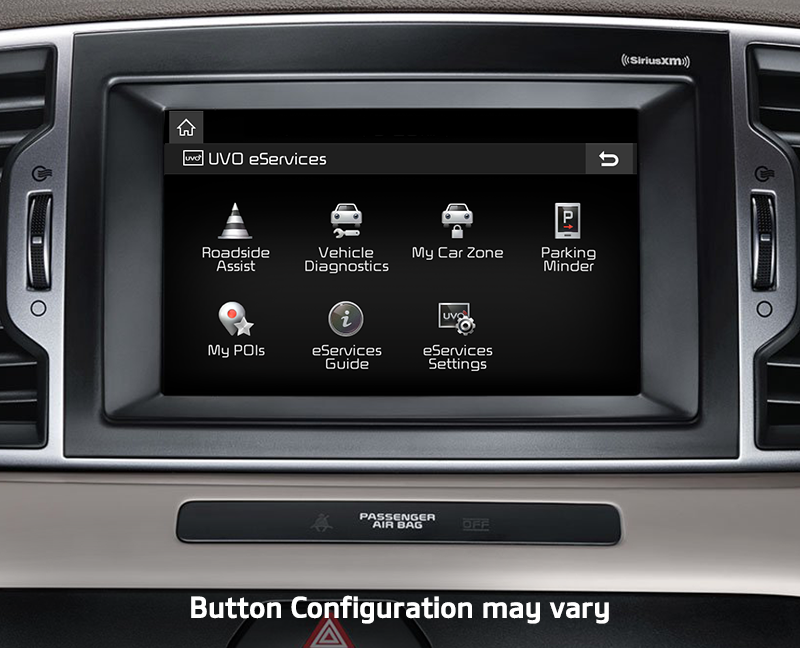 Uvo Eservices With Premium Nav Voice Command Navigation My Car Zone 8 Touch Screen